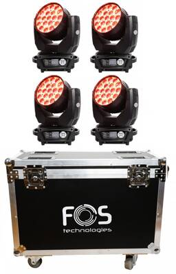 FOS SET 4x Wash LED QUAD III + Case